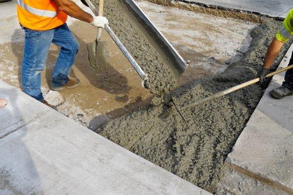 Бетон сквозняк сколько надо цементного раствора на 1м2